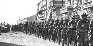 Парад американских войск во Владивостоке 1918 года